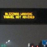 Blizzard Warning - Travel Not Advised