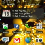 HTC Hero Home screen